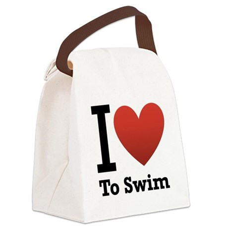 I love to swim Canvas Lunch Bag
