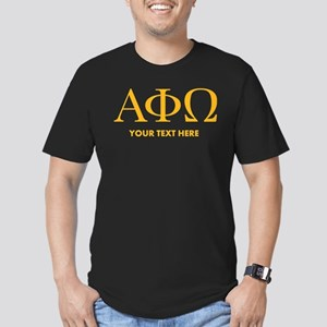 Alpha Phi Omega Letter Men's Fitted T-Shirt (dark)