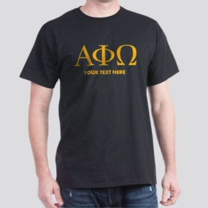 Alpha Phi Omega Letters Personalized Dark T-Shirt