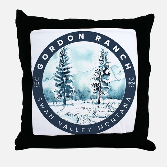 Funny Ranch Throw Pillow