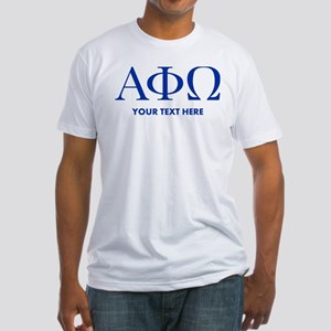 Alpha Phi Omega Letters Personalize Fitted T-Shirt