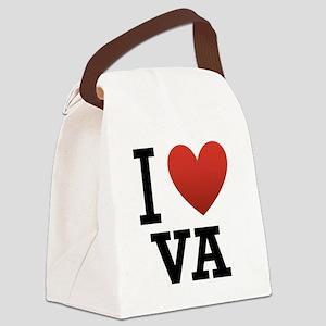 I-Love-Virgina Canvas Lunch Bag