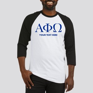 Alpha Phi Omega Letters Personaliz Baseball Jersey