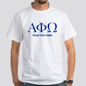 Alpha Phi Omega Letters Personalized White T-Shirt