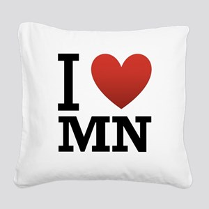 i-love-MN Square Canvas Pillow