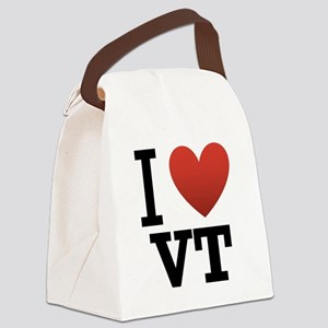 I-love-vermont Canvas Lunch Bag