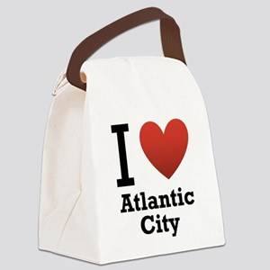 I-Love-Atlantic-City Canvas Lunch Bag