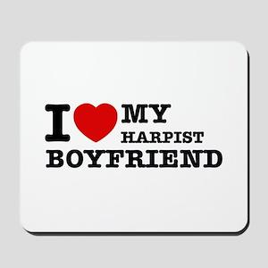 I love my Harpists boyfriend Mousepad