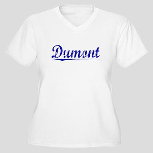 Dumont, Blue, Aged Women's Plus Size V-Neck T-Shir