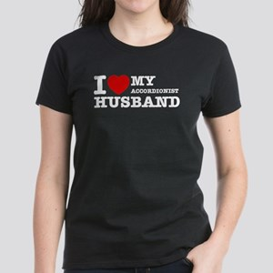 I love my Accordionists husband Women's Dark T-Shi