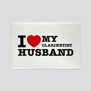 I love my Clarinetist husband Rectangle Magnet