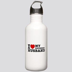 I love my Drummer husband Stainless Water Bottle 1