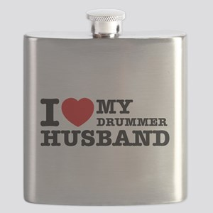 I love my Drummer husband Flask
