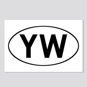 Oval YW logo Postcards (Package of 8)