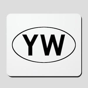 Oval YW logo Mousepad