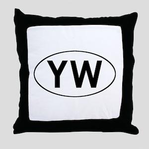 Oval YW logo Throw Pillow