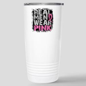 Real Men Wear Pink 1 Stainless Steel Travel Mug
