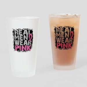 Real Men Wear Pink 1 Drinking Glass