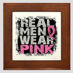 Real Men Wear Pink 1 Framed Tile