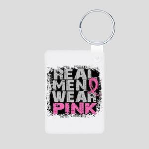 Real Men Wear Pink 1 Aluminum Photo Keychain