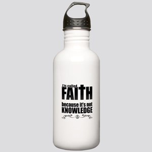 Faith Is Not Knowledge Stainless Water Bottle 1.0L