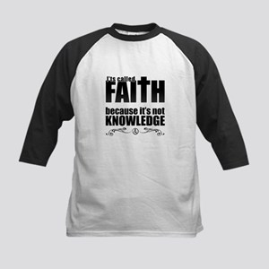 Faith Is Not Knowledge Kids Baseball Jersey