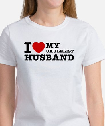 I love my Ukulelist husband Women's T-Shirt