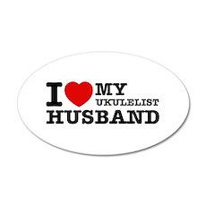 I love my Ukulelist husband Wall Sticker
