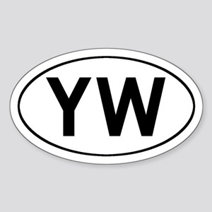 Oval YW logo Oval Sticker