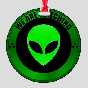 Alien Seal Round Ornament