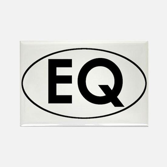 Oval EQ logo Rectangle Magnet