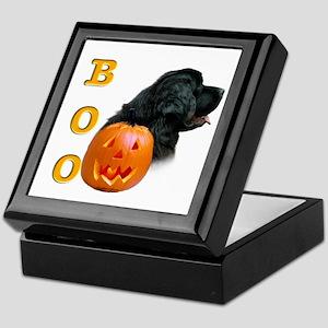 Halloween Black Newfoundland Boo Keepsake Box