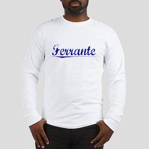 Ferrante, Blue, Aged Long Sleeve T-Shirt