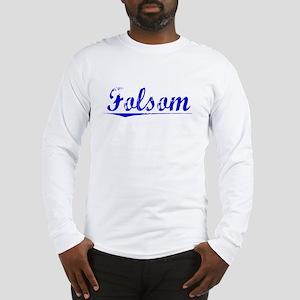 Folsom, Blue, Aged Long Sleeve T-Shirt