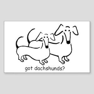 got dachshunds? Sticker