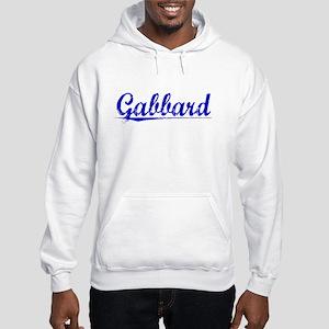 Gabbard, Blue, Aged Hooded Sweatshirt