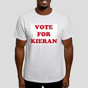 VOTE FOR KIERAN  Ash Grey T-Shirt