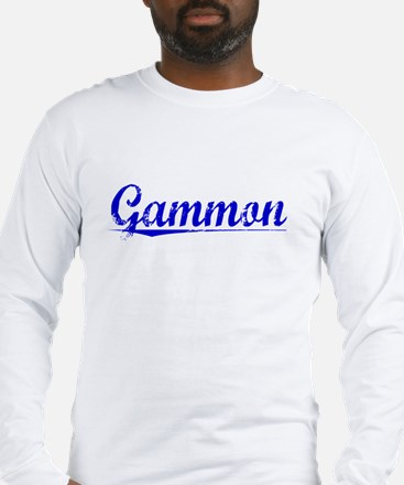 Gammon, Blue, Aged Long Sleeve T-Shirt