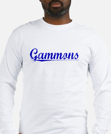Gammons, Blue, Aged Long Sleeve T-Shirt