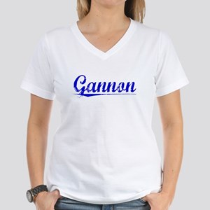 Gannon, Blue, Aged Women's V-Neck T-Shirt