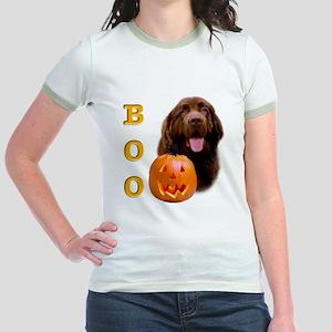 Halloween Brown Newfoundland Boo Jr. Ringer T-Shir