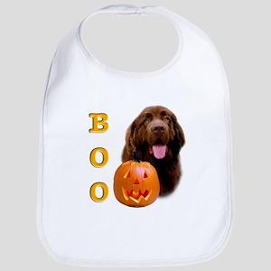 Halloween Brown Newfoundland Boo Bib