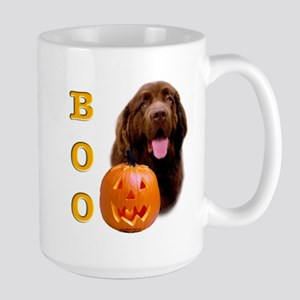 Halloween Brown Newfoundland Boo Large Mug