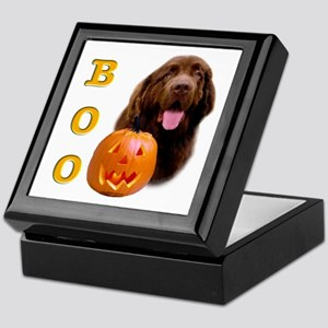 Halloween Brown Newfoundland Boo Keepsake Box