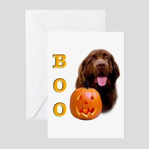 Halloween Brown Newfoundland Boo Greeting Cards (P