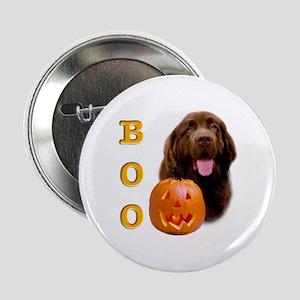 Halloween Brown Newfoundland Boo Button
