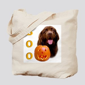 Halloween Brown Newfoundland Boo Tote Bag