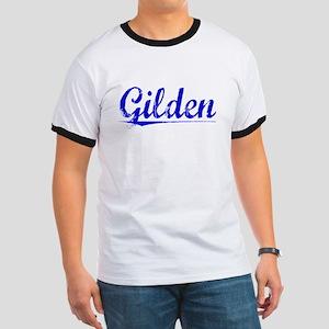 Gilden, Blue, Aged Ringer T
