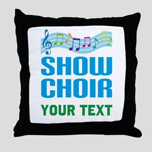 Personalized Show Choir Throw Pillow