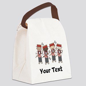 Personalized Barbershop Music Canvas Lunch Bag